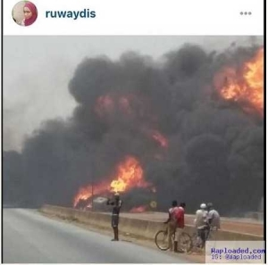 Many Burnt Alive as Fuel Tankers Collide and Explode in Zaria (Photo)